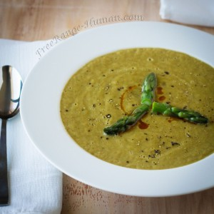 Roasted Asparagus Soup with Bacon