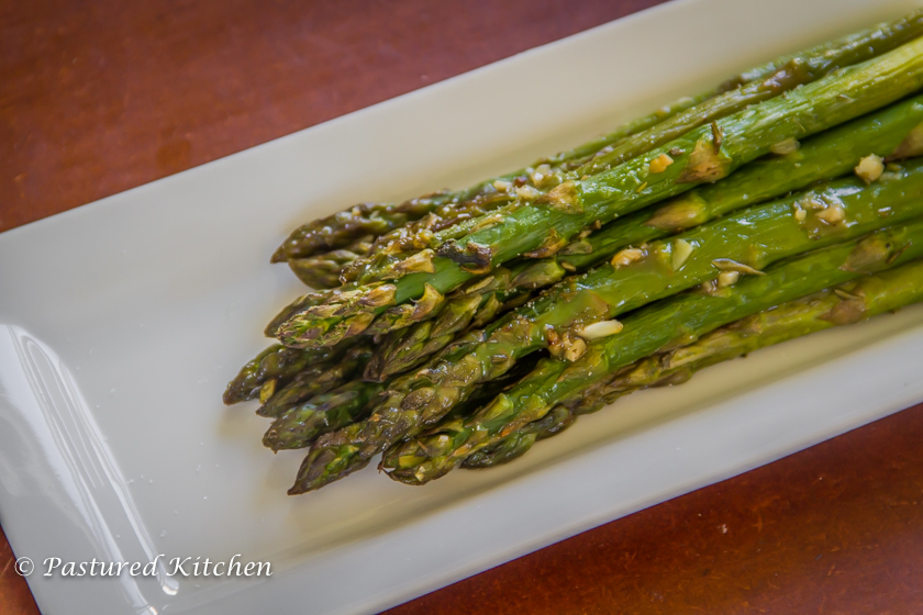 Duck fat and herb roasted asparagus for Primal kitchen south bend